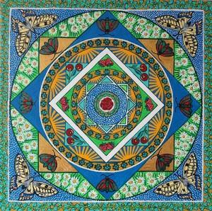 Mandala Joelle BRUNET : le Printemps