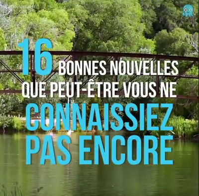 16 RAISONS DE RESTER OPTIMISTES