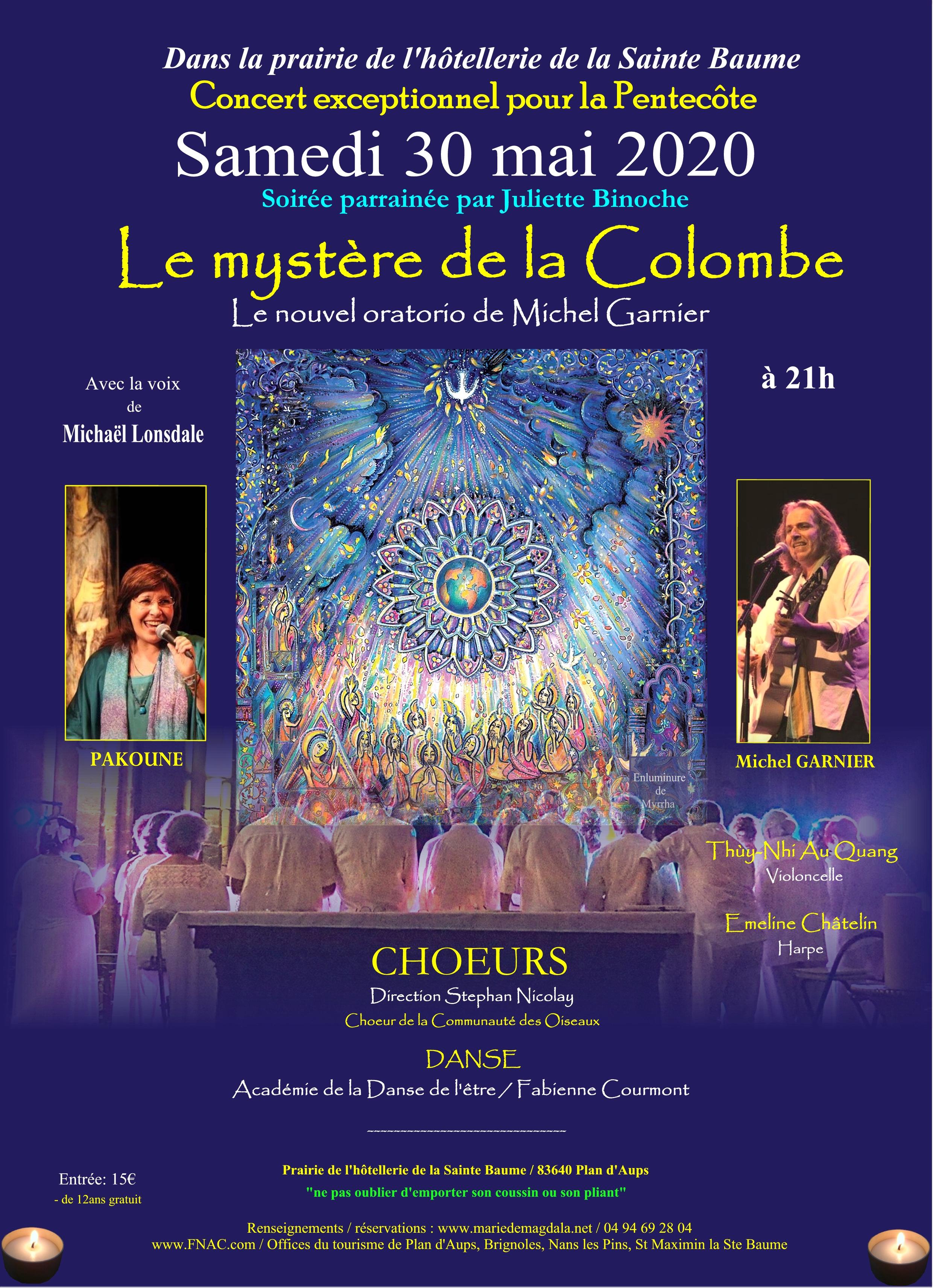 Concert 30 mai 2020 Le mystère de la colombe