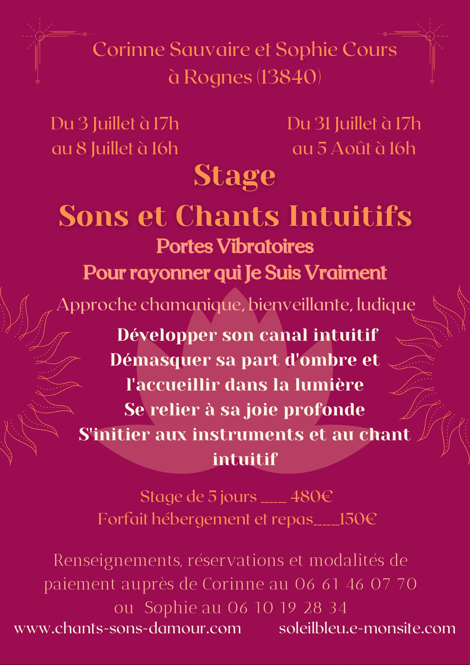 Stage Sons et Chants Intuitifs