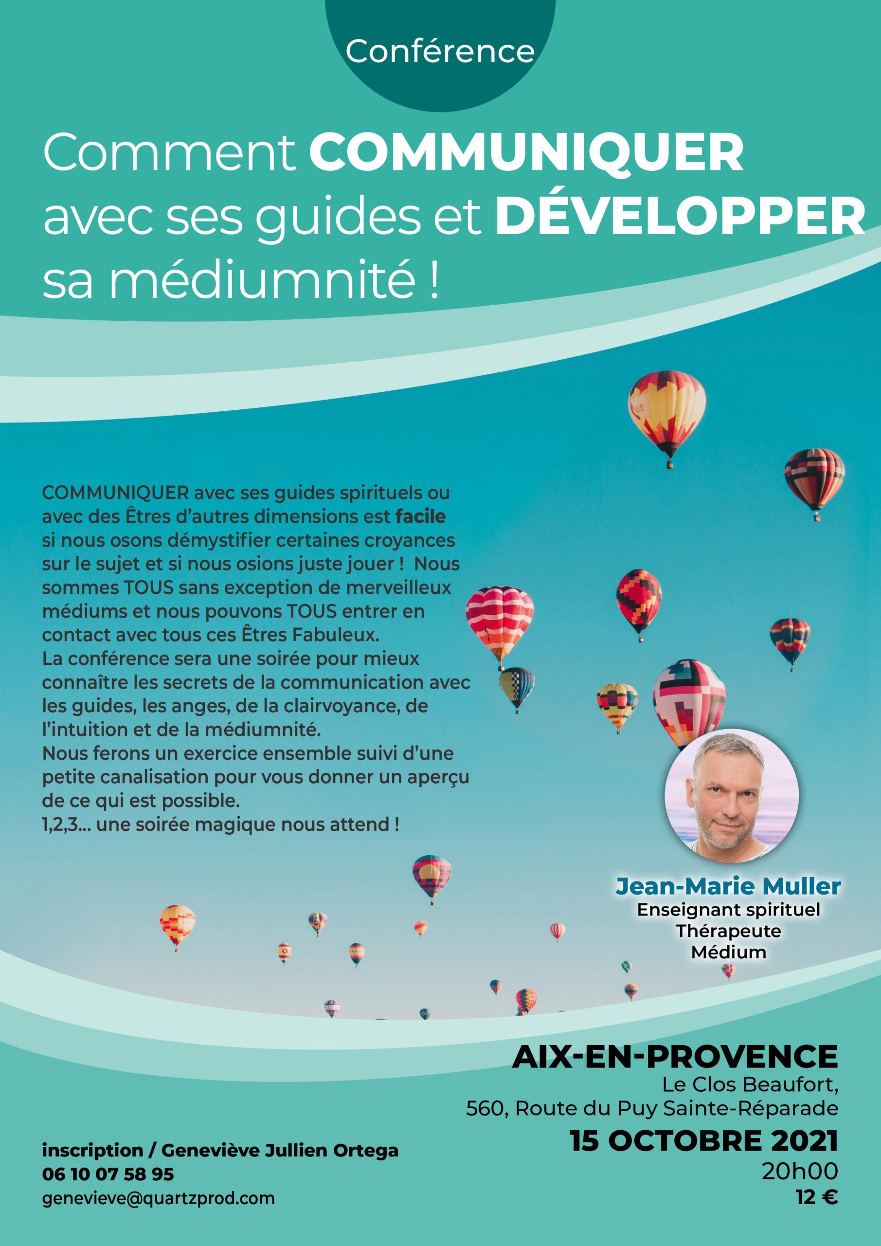 REPORT DE LA Conférence : Comment communiquer avec ses guides et développer sa médiumnité ?