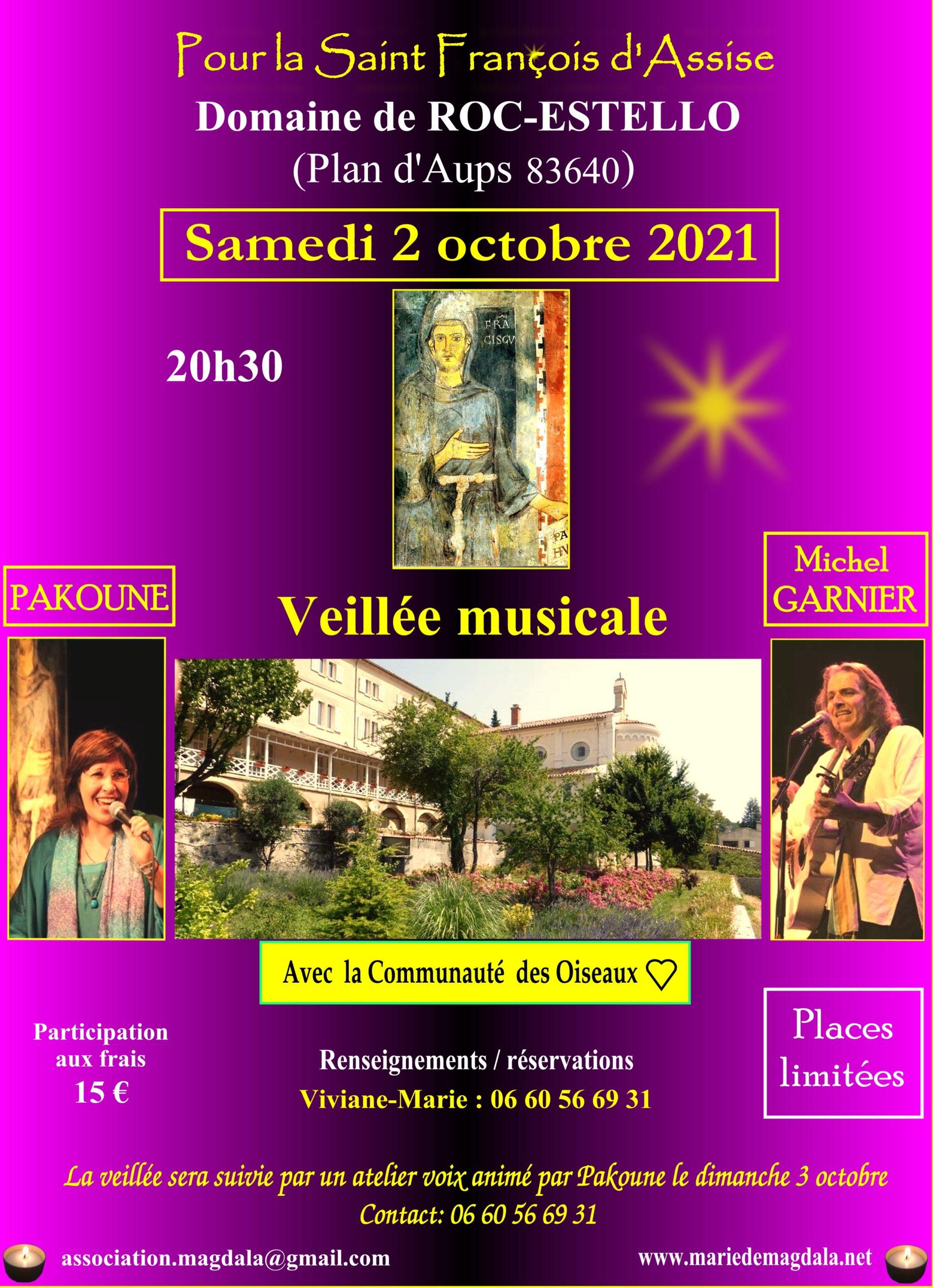 Veillée musicale pour la Saint François d'Assise